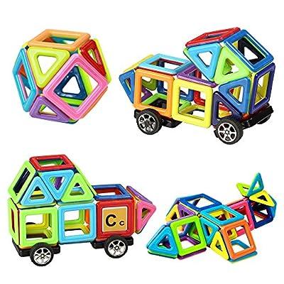 Innoo Tech Blocchi Costruzioni Magnetiche Puzzle Di Legno Per I Bambini Lasciate Che Il Vostro Bambino Imparare Colori E Forme Attraverso 76 Piccoli