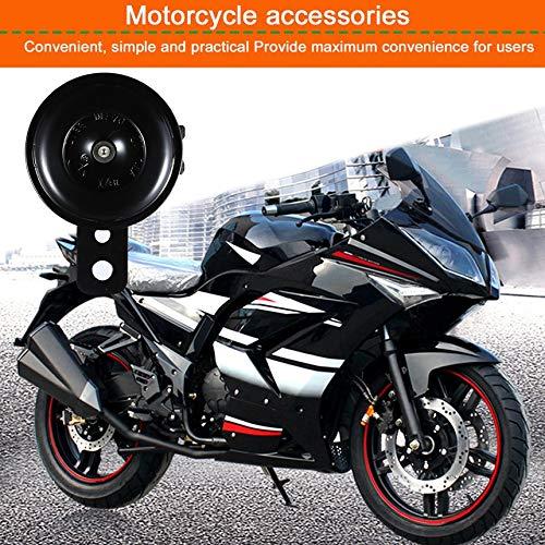 Negro Kit universal de bocina el/éctrica de motocicleta 12V 1.5A 105db Altavoces de bocina redondos impermeables para scooter ciclomotor Dirt Bike ATV
