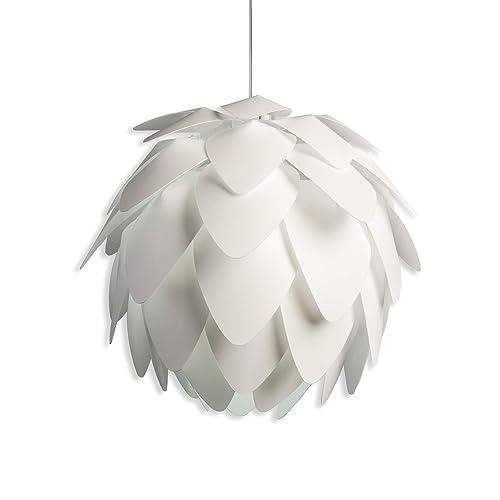 B.K. Licht suspension luminaire design blanc, plafonnier élégant, éclairage intérieur, lumière plafond salon salle à manger chambre, IP20