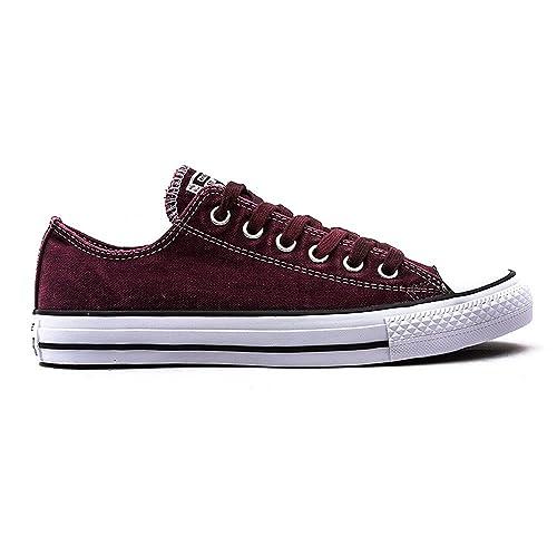 Converse All Star Wash Mujer Zapatillas Granate: Amazon.es: Zapatos y complementos