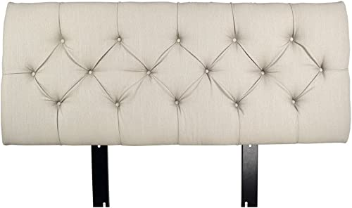 MJL Furniture Designs Jackie Collection Padded and Diamond Tufted Upholstered Solid Wood Full Size Headboard