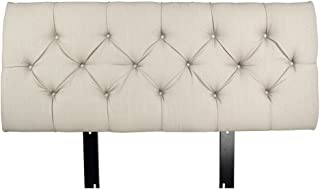 product image for MJL Furniture Designs Jackie Collection Padded and Diamond Tufted Upholstered Solid Wood Queen Size Headboard, HJM100 Series, Beige Finish