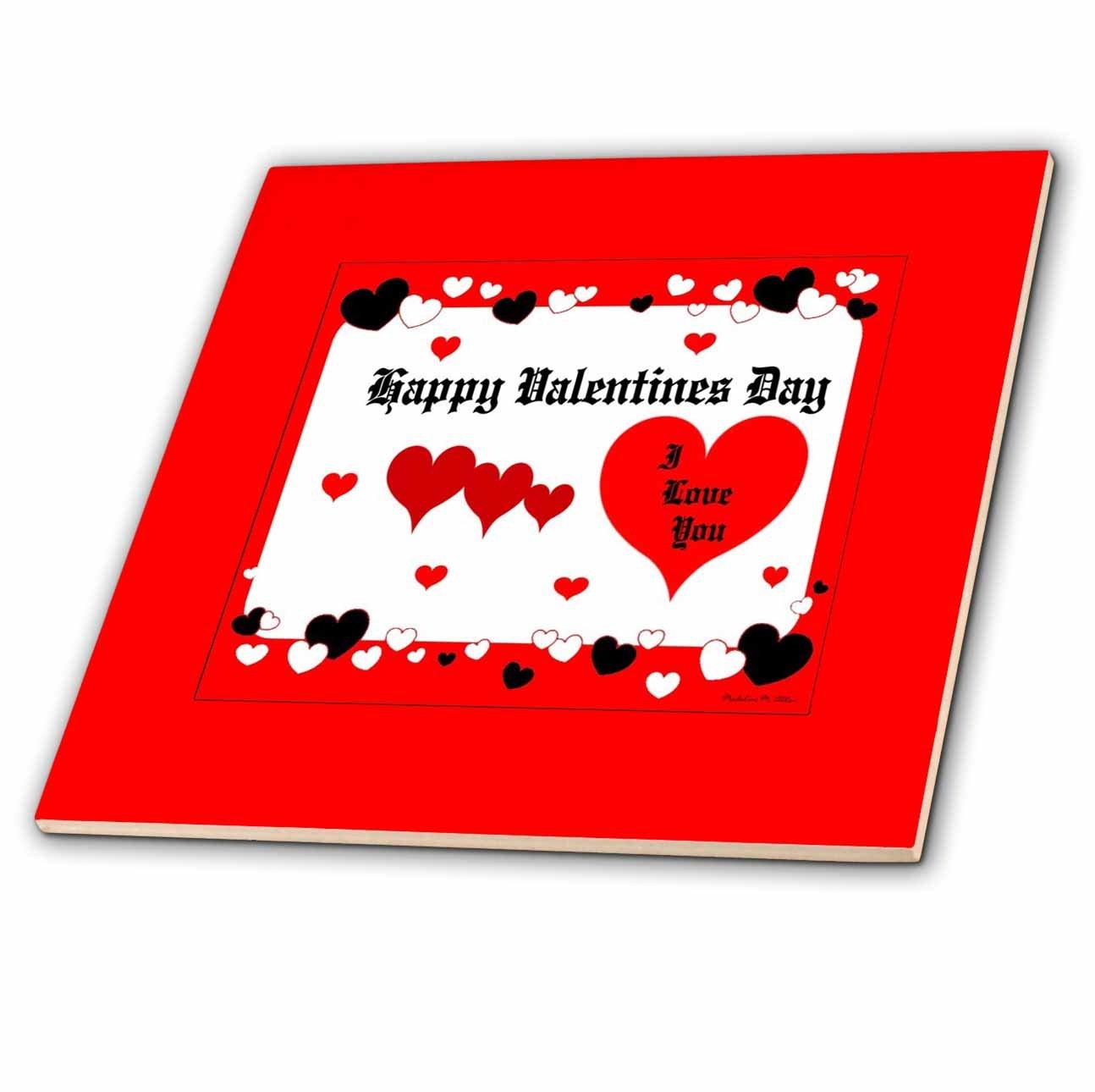 12 Inch Ceramic Tile ct/_9242/_4 3dRose SmudgeArt Valentine Designs Happy Valentines Day