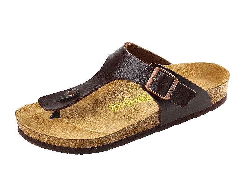 MR-DV Men's Cork Footbed Thong Sandals Flip Flops