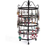 """PENGKE 4 Tiers Rotating Earring Spin Table, 144 Holes Earring Organizer Jewelry Display Stand for Earrings,12.2""""x6"""""""