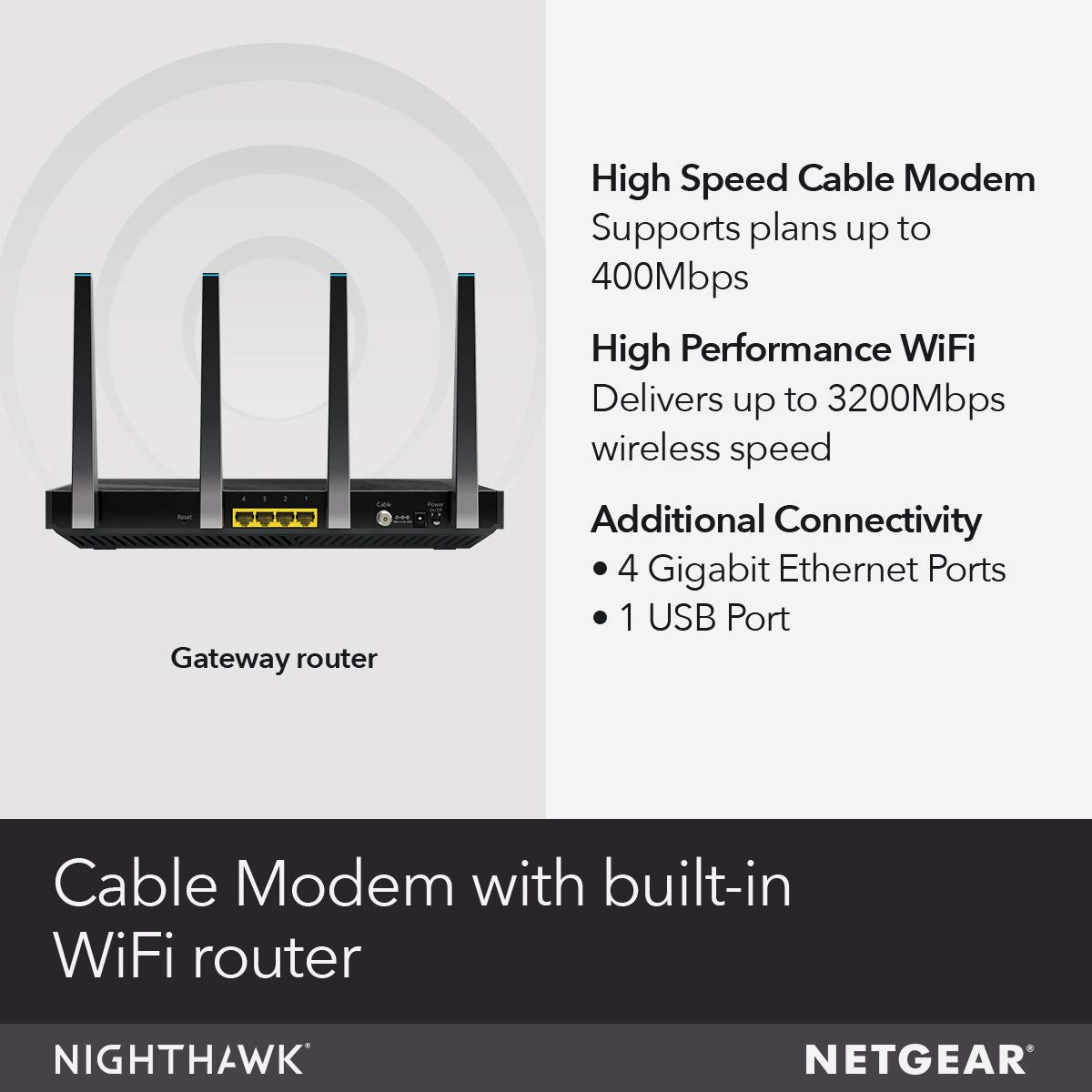 3/Meters /10/Feet NETGEAR Nighthawk Cable Modem WiFi Router Combo C7000-Compatible /& Basics/RJ45/Cat-6 Ethernet/Patch Internet Cable