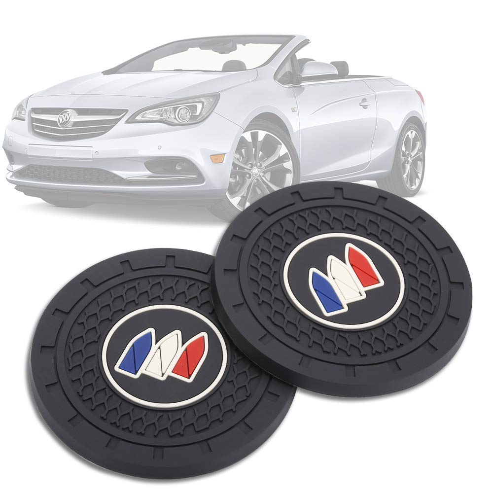 Shenwinfy 2.75 Inch Car Interior Accessories Anti Slip Mat for Buick Cup Holder Coaster Auto Interior Decoration Pad 2 PCS