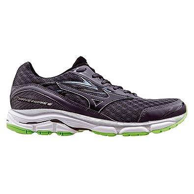 Mizuno Men's Wave Inspire 12 Running Shoe, Periscope/Green Gecko/White, 14