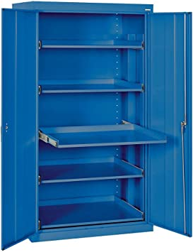 Amazon Com 2 Door Storage Cabinet Color Blue Modular Storage Systems Office Products
