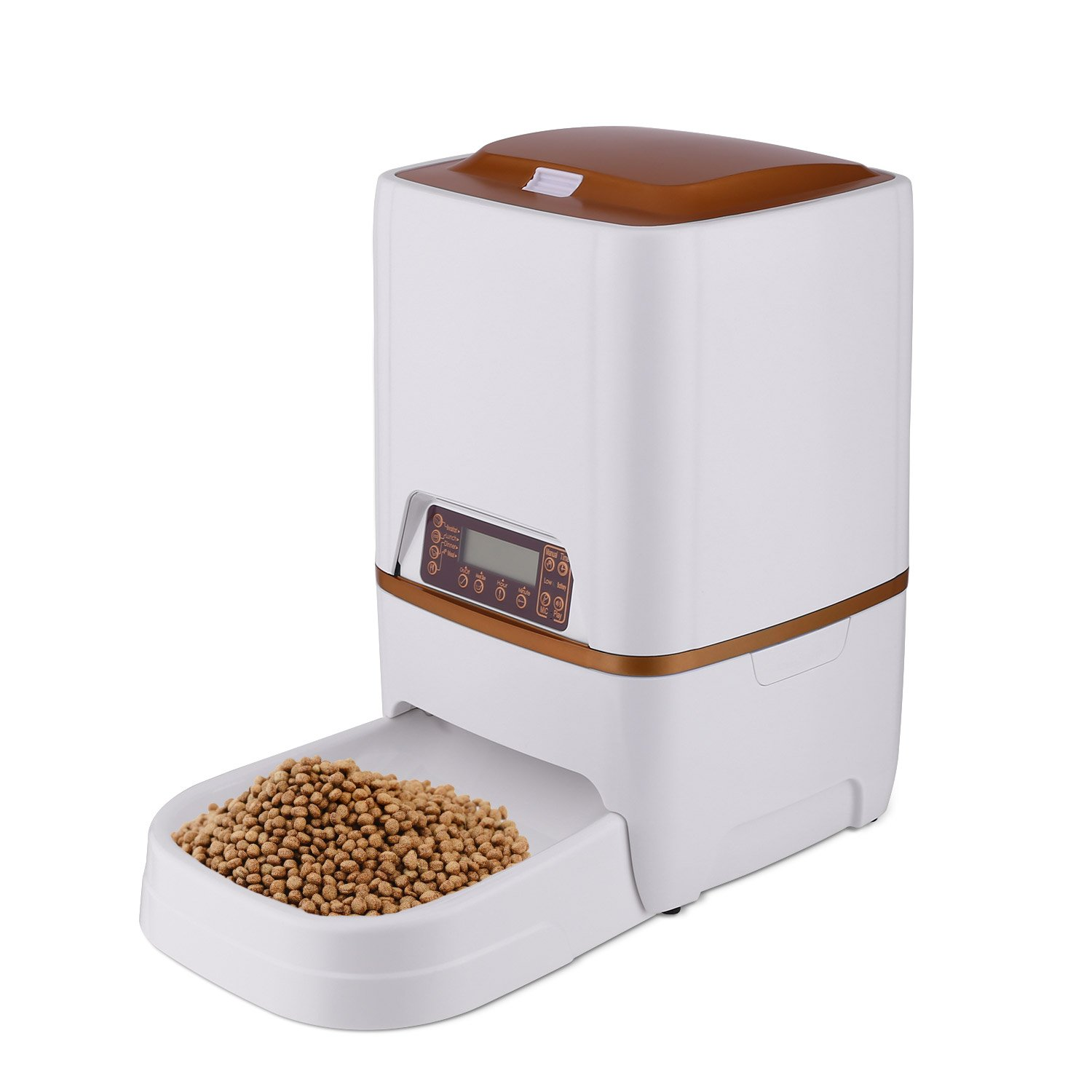 Sailnovo 6L Pet Feeder Food Dispenser 4 Meal for Pet Cat Automatic Dog Timer Programmable for Pet Cat Dog