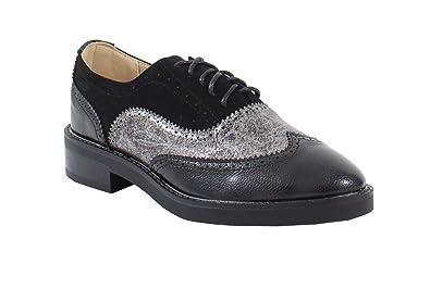 By Style Bi Daim Matière Effet Shoes Cuir Et Femme Derbies ArCAq