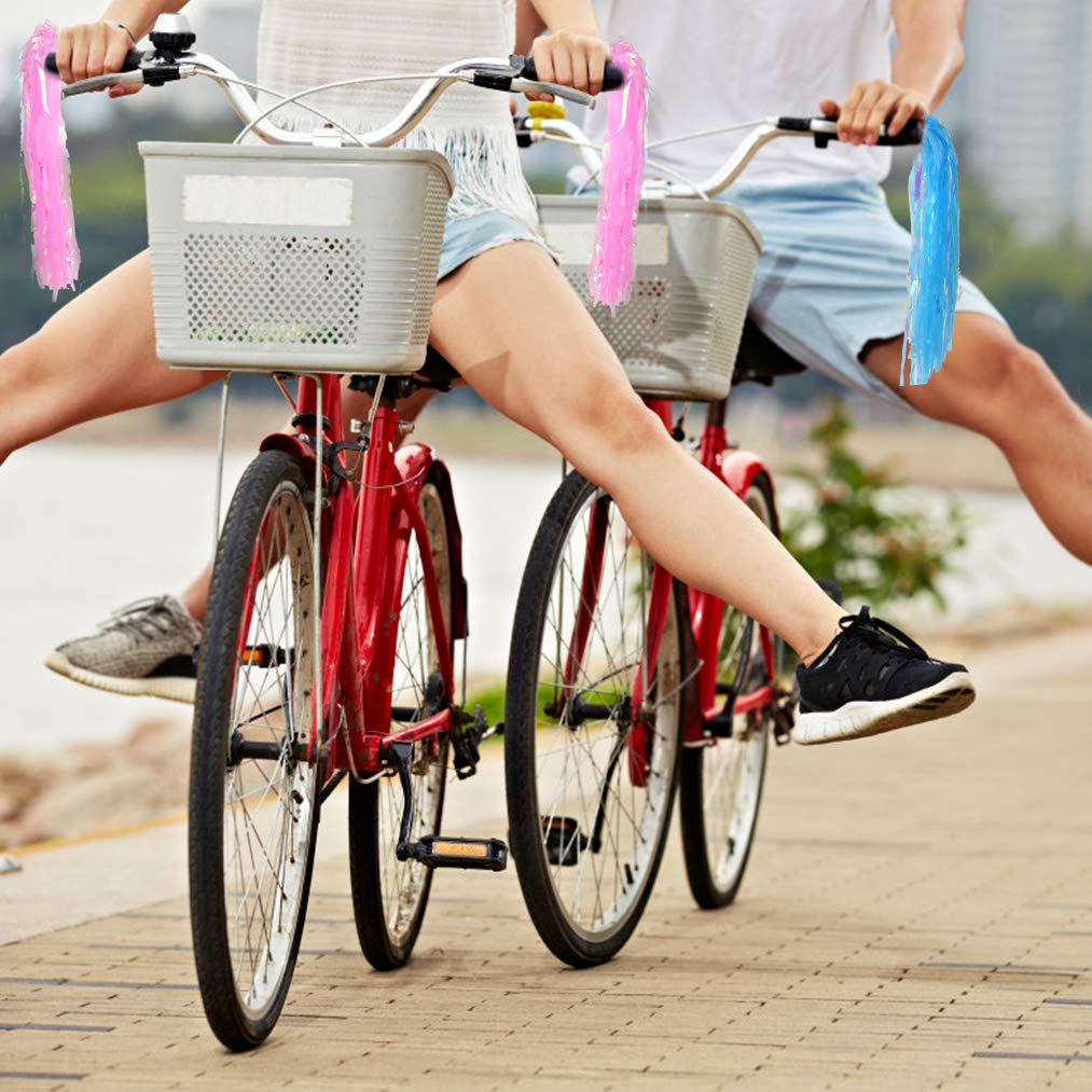 Yolyoo Kids Bicycle Bike Handlebar Streamers,Tassel Ribbons Children Scooter Handlebar Streamers for Girls Boys Scooter Handgrip