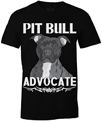 3a1b6a51b Pit Bull Advocate Version II Mens Shirt Gift, Pitbull Dad, Pitbull  accessories (Small. Roll over image to ...