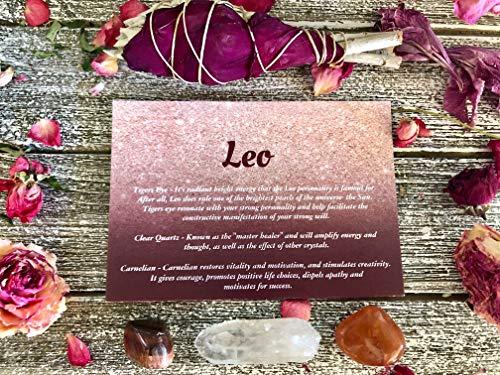 Leo Gift Set / /Birthstone Set/Zodiac Crystal Set/Healing Crystal Set/Zodiac Stones/Leo Gifts/Leo Stones