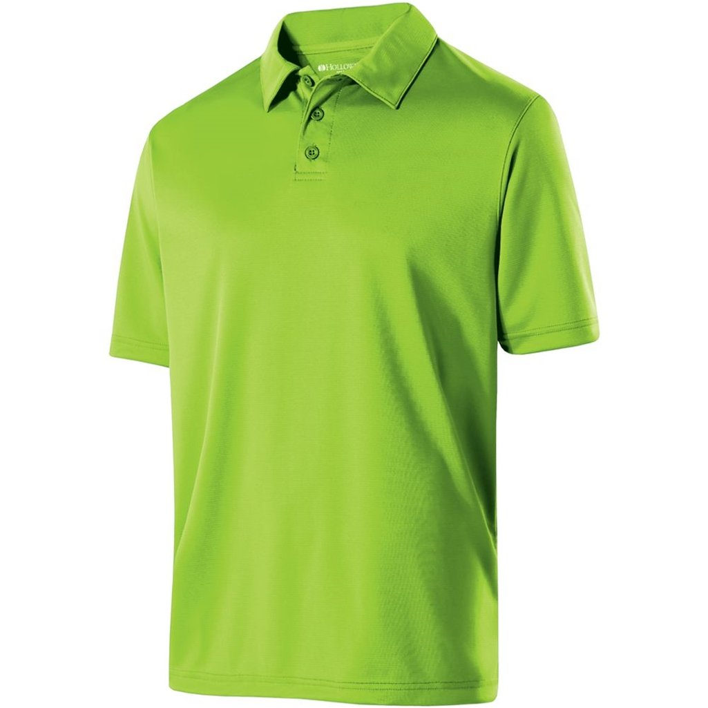 Holloway Mens Dry Excel Shift Polo (X-Large, Lime) by Holloway