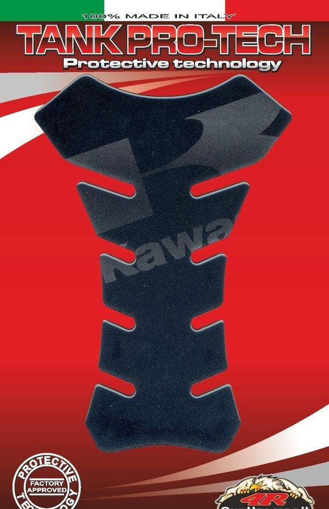 KAWASAKI MOTORCYCLE TANK PROTECTOR PAD MADE IN ITALY NINJA, ER6F ER6N, VERSYS 650 1000, Z300 Z650 Z750, Z800 Z900 Z1000, ZX6R ZX9R ZX10R, ZZR1400, H2 H2R, VULCAN (Dark) ITALIA TANK PROTECTORS