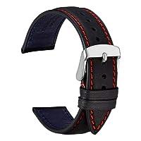 WOCCI Orologio Cinturino in Pelle, Fibbia in Acciaio Inossidabile, Unisex (18mm/20mm/22mm)
