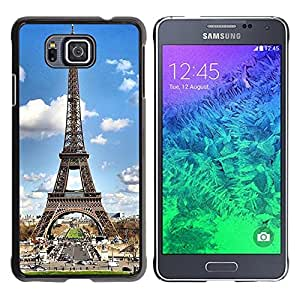 - Paris Eiffel Tower - - Hard Plastic Protective Aluminum Back Case Skin Cover FOR Samsung GALAXY ALPHA G850 SM-G850F G850Y G850M Queen Pattern