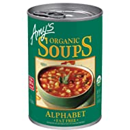 Amy's Organic Soups, Fat Free Alphabet, 14.1 Ounce (Pack of 12)