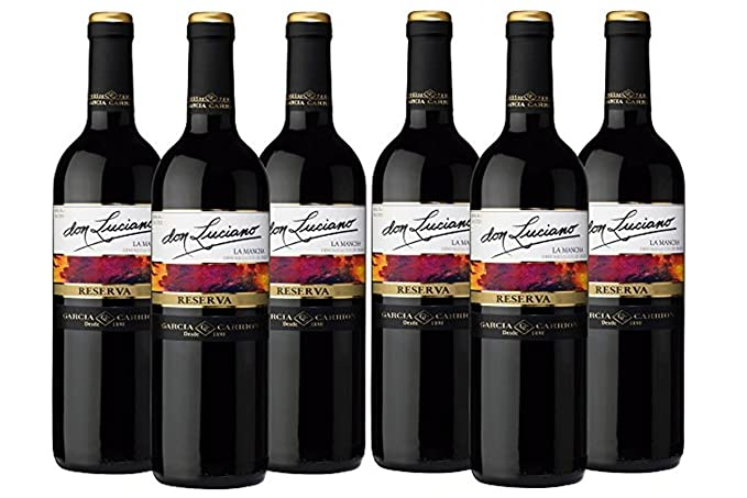 Don Luciano Reserva D.O La Mancha. Vino Tinto - 6 Botellas x 750 ml -
