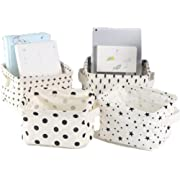 Lannu Foldable Fabric Storage Baskets Bins Cloth Collapsible Organizers Baby Toys,Makeup,Books,Shelves & Desks Pack 4