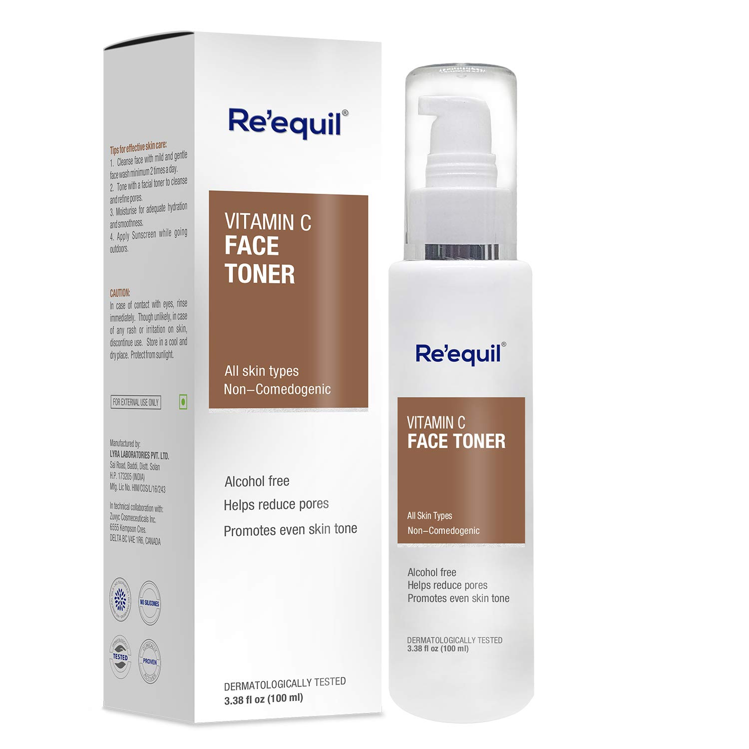 RE' EQUIL Vitamin C Face Toner for Hyperpigmentation Removal and Even Skin Tone - 100ml product image