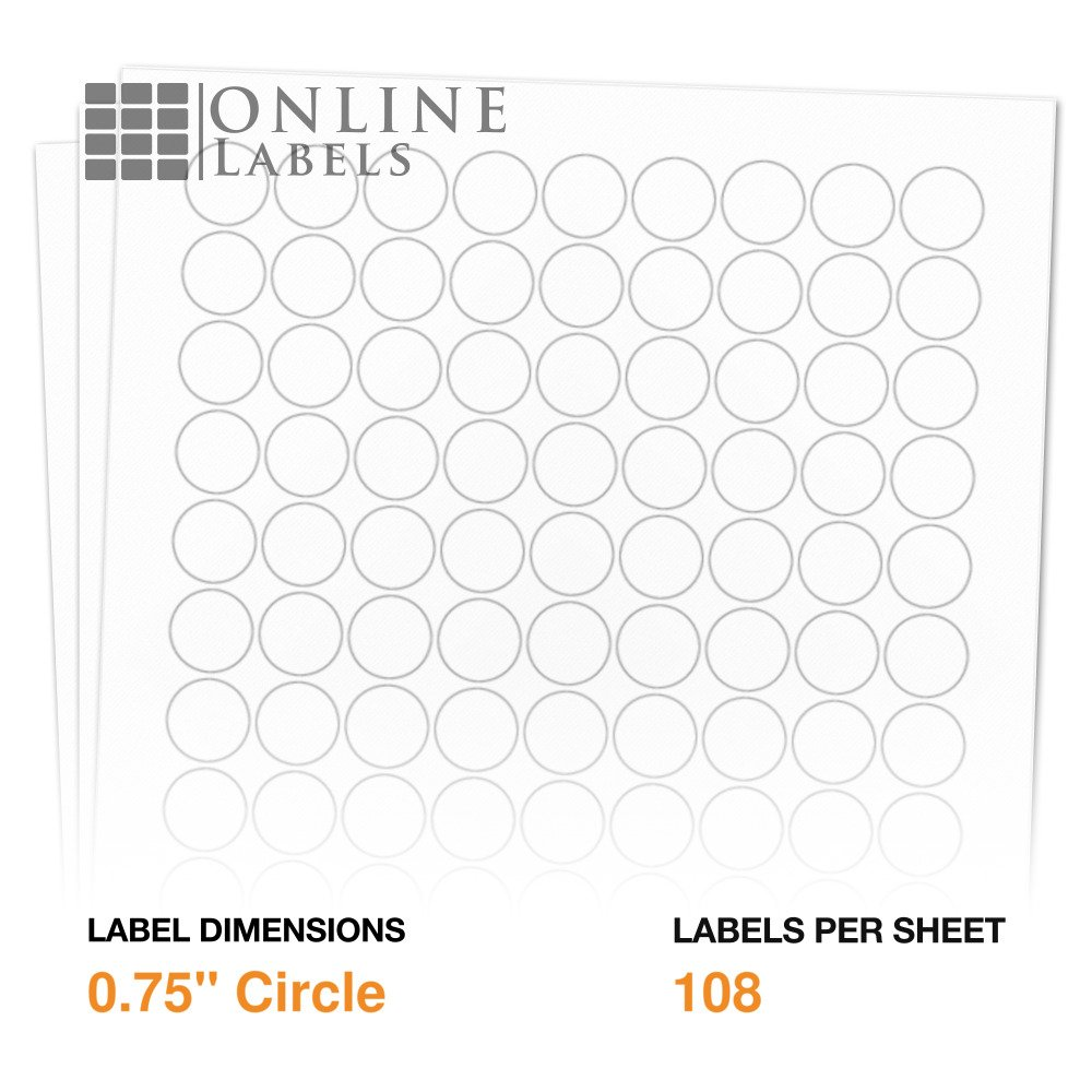 Amazon Com 0 75 Round Labels Pack Of 10 800 Circle Stickers