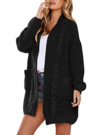 49197a7a89fd YOMISOY Womens Cardigan Sweaters Casual Long Sleeve Open Front Loose ...