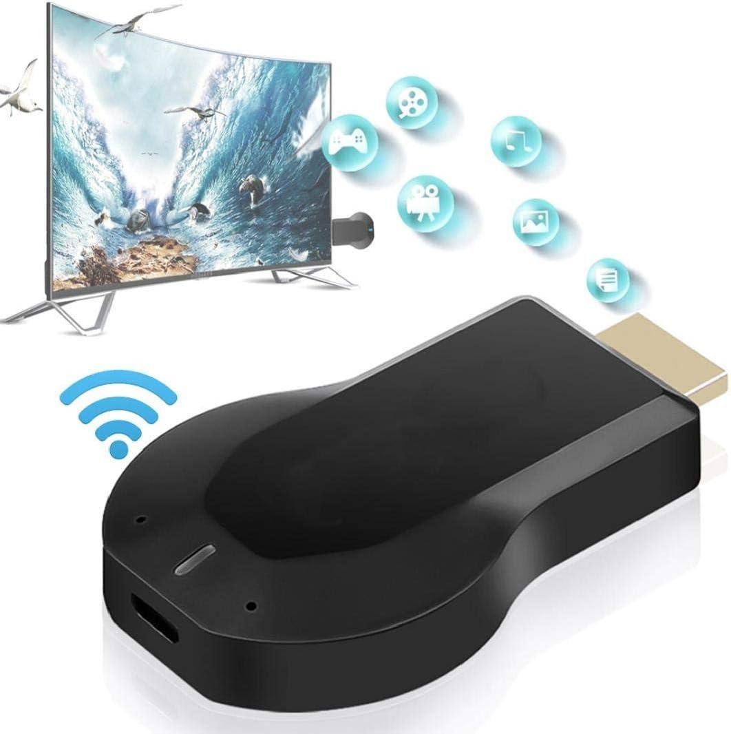 IUwnHceE Dispositivo De Pantalla Receptor Inal/ámbrico Wi-fi Hdmi Pantalla Mirroring Adaptador para Android//iPhone//iPad//Windows//Miracast//Mac Os para TV//Proyector//Monitor-Negro