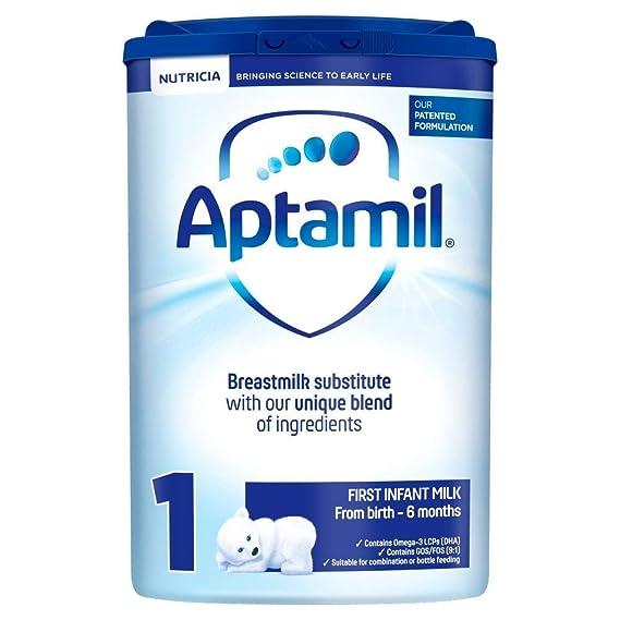 Aptamil primera leche en polvo desde el nacimiento 6 x 900gm