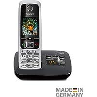 """Gigaset C430A, S30852-H2522-B101 Telefon Bezprzewodowy z Automatyczną Sekretarką, 1.8"""", Czarno/Srebrny"""