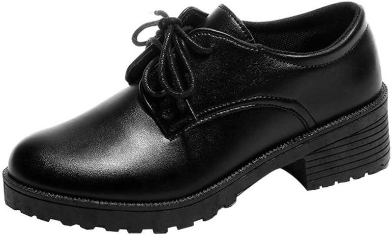 Zapatos de Plataforma Mujer, gongzhumm Zapatos Pas Barato Mujer Niña Escarpins Estudiantes Vintage Botines Botas Corta de Cordones de Martin de tacón Tobillo Mujeres, Negro: Amazon.es: Bricolaje y herramientas