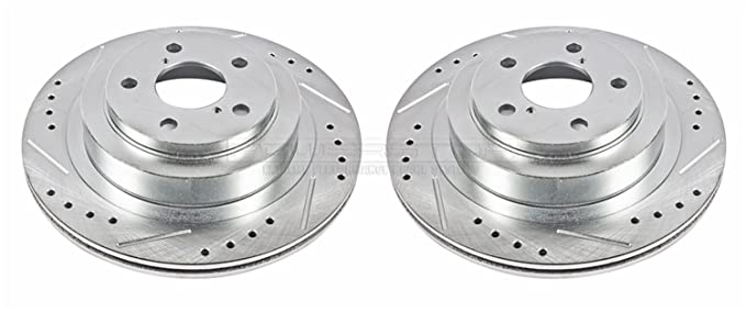 Power Stop JBR1163XPR Rear Evolution Drilled & Slotted Rotor Pair