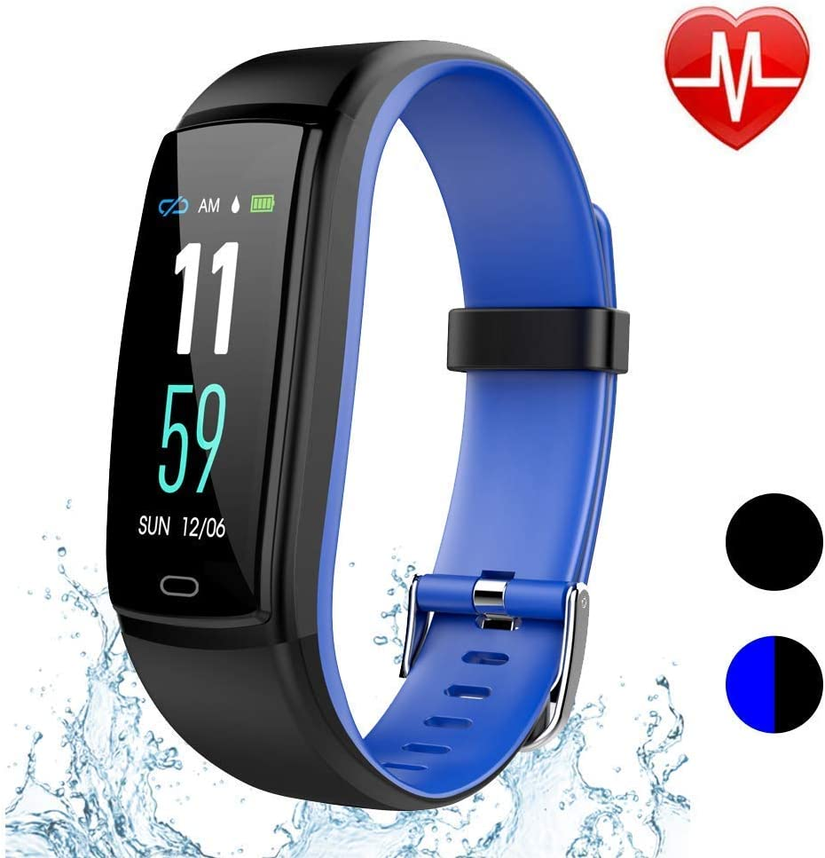 TEYO Fitness Tracker Watch, Activity Tracker with Heart Rate Monitor Sleep Monitor Step Counter,Color Screen Smart Pedometer Watch with Blood Pressure Monitor IP67 Waterproof Smartband
