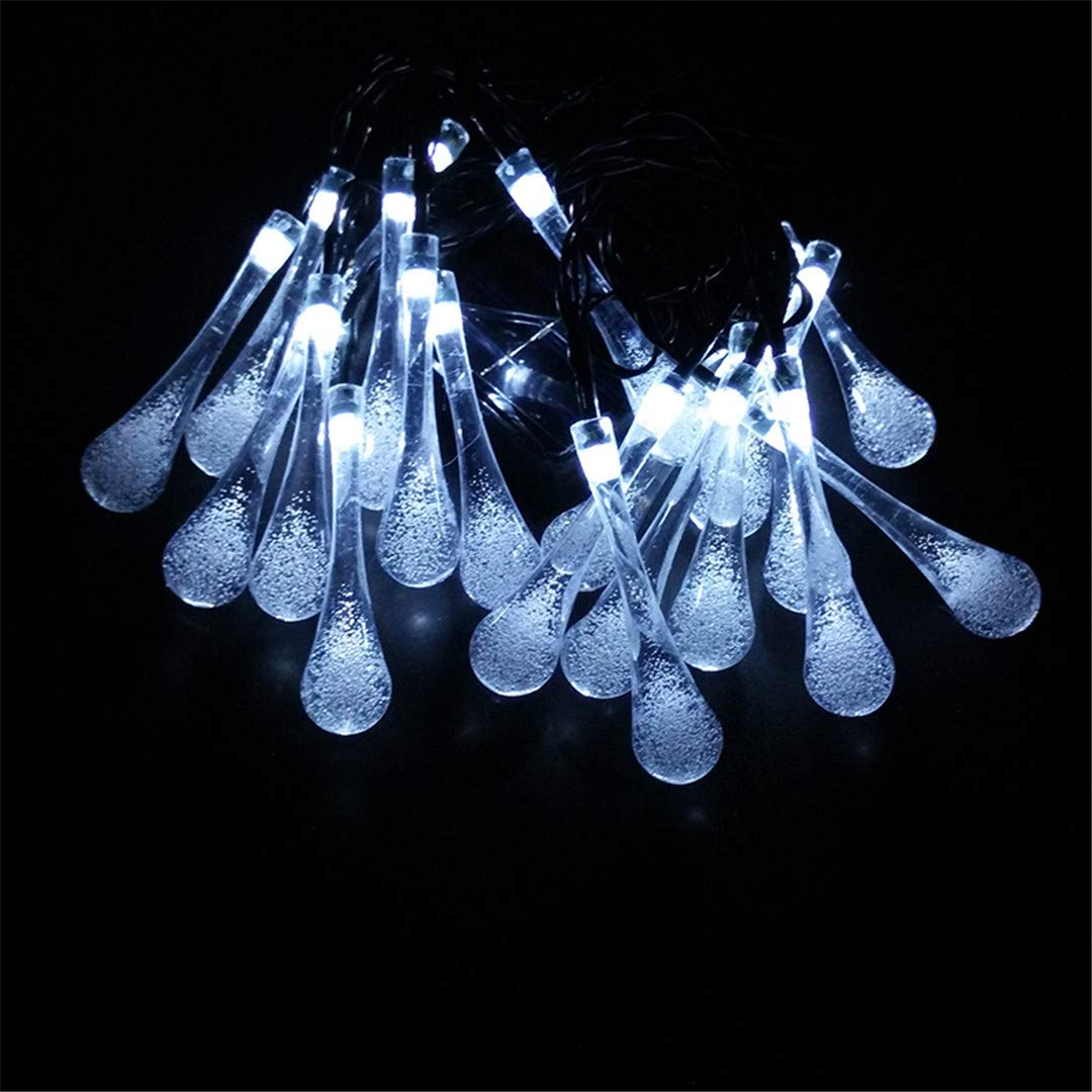 BGFHDSD 7M LED Solar Raindrop Lamp Novelty Outdoor Garden Decoration String Lights Patio Lantern Waterdrop IP65 Path Street Light Changeable by BGFHDSD (Image #4)