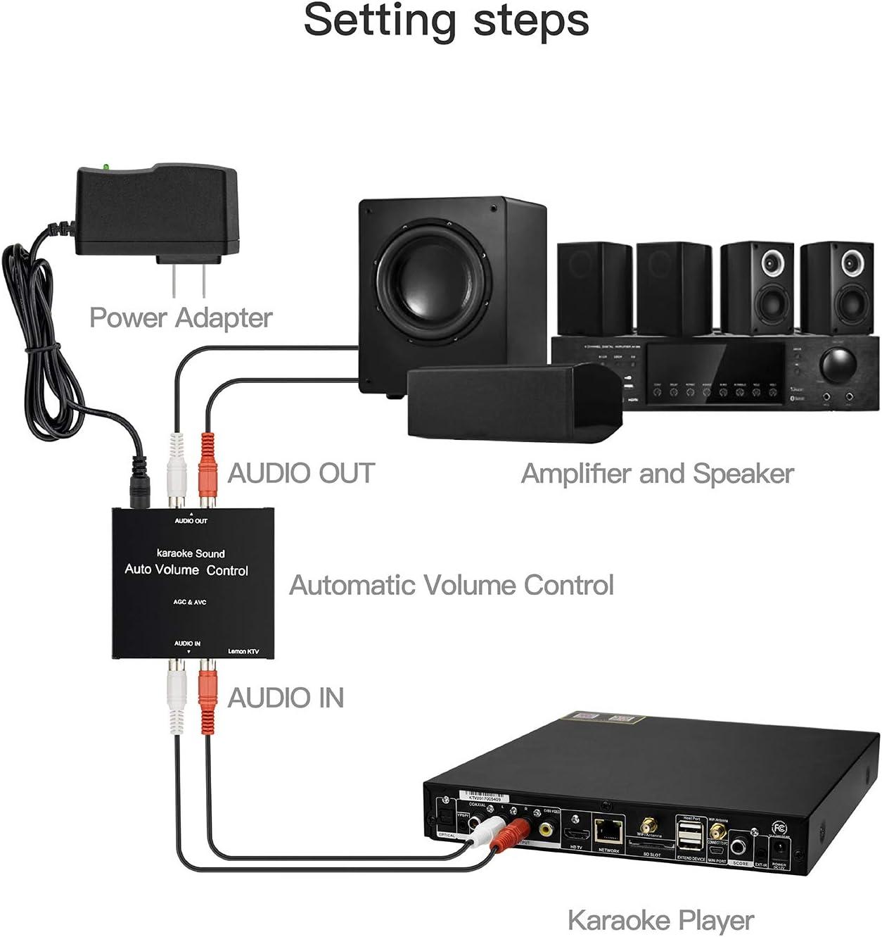Auto Gain Control Device for Karaoke Machine Media Player LEMONKTV Auto Volume Control Device