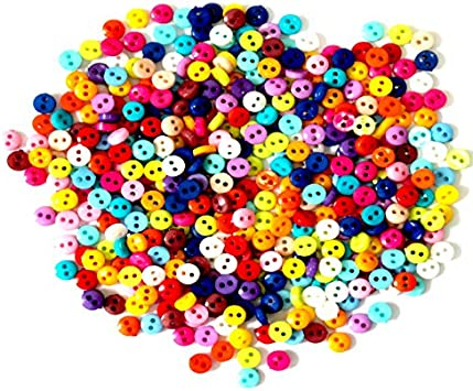 Mini Buttons 6mm Black and White Dolls Buttons in Packs of 10 50 or 100 25