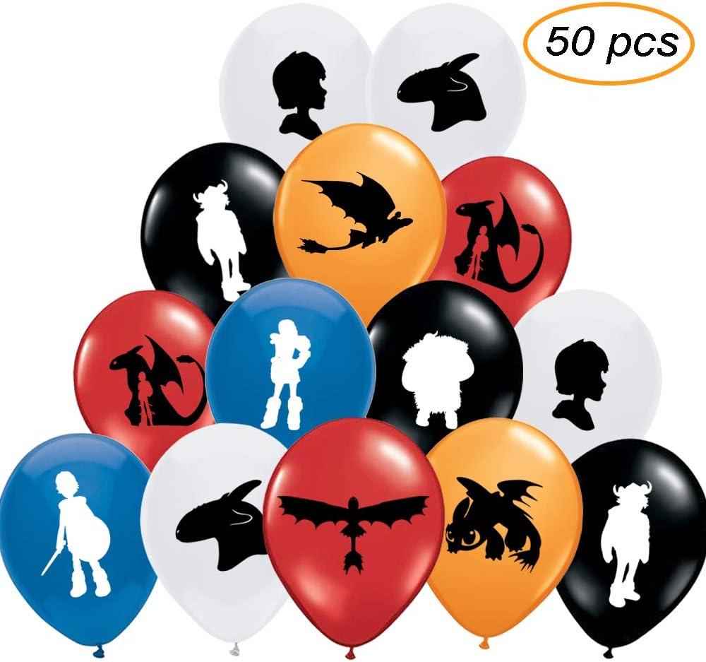 Amazon.com: 50 globos de fiesta inspirados en dragones para ...