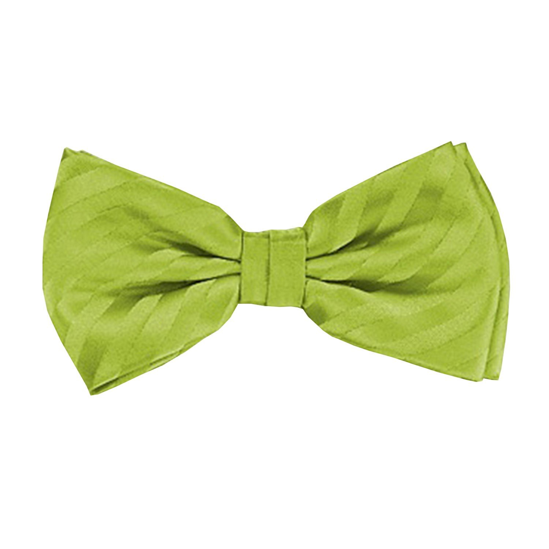 Frederic Thomass Pajarita corbata de moño verde lima rayas de ...