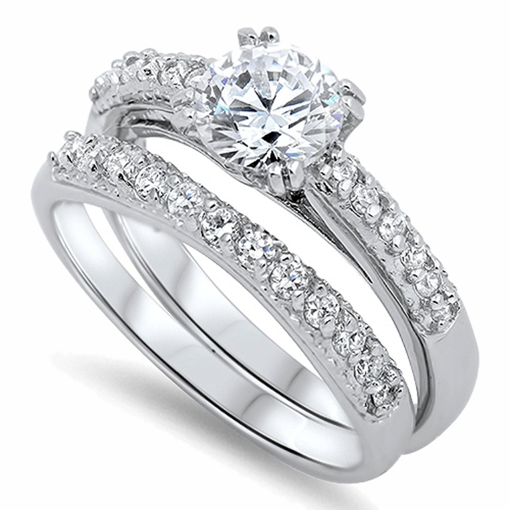 Sterling Silver 8mm Round CZ Solitaire Engagement Ring
