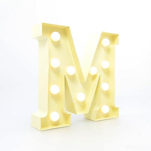 APM Marquee Letter Light M - Letras del Alfabeto LED ...