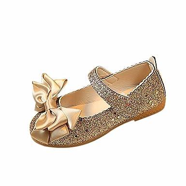 47923ef0f7745 Robemon❤️Mode Princess Chaussures Bébé Filles Bowknot Dance Princess  Sandales en Cuir Nubuck Brillant  Amazon.fr  Vêtements et accessoires