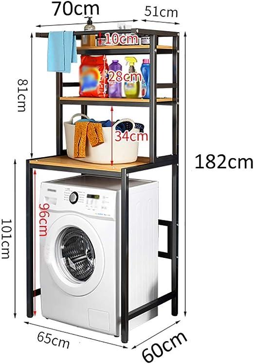 Estante de la lavadora For suelo de cuarto de baño estante de ...