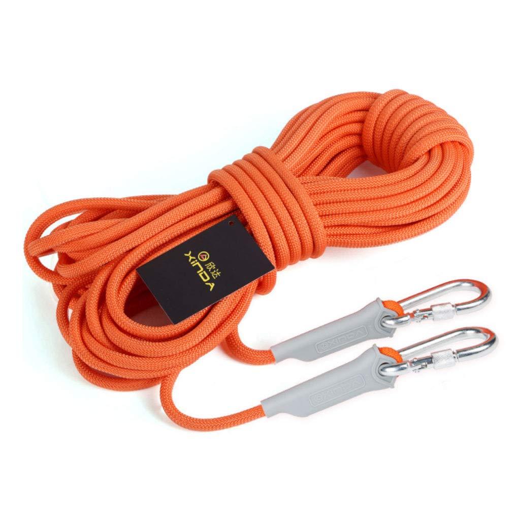 12mm JU FU Corde de sécurité Corde d'escalade en Plein air d'assurance Corde Corde Survie équipement de Survie Sauvage Fournitures (Couleur   6mm, Taille   10m) 30m