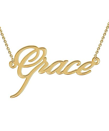 Custom4U Customize Your Name Necklace Personalized Name Jewelry,18K Gold  Plated
