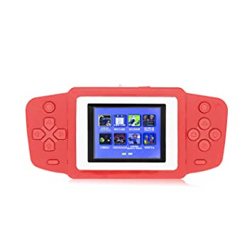 Review Hades RS-33 Kids Pocket Games Console Handheld Retro Games, Built-in Old School Video Games with 2.5 Inch LCD Screen Birthday Gift for Kids (Red)