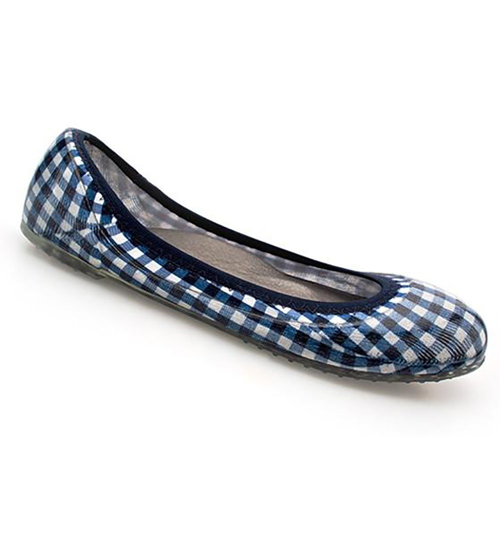 JA VIE Ballet Shoes and Comfortable Ballet Flats Style for Every Day Wear B079QX21WL 40 M EU|Gingham/ Navy