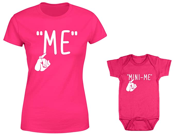 c71b325664 Image Unavailable. Image not available for. Color  HAASE UNLIMITED Me Mini-Me  2-Pack Bodysuit   Ladies T-Shirt