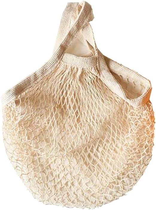 YouU Bolso de Compras de Red de algodón Reutilizable, Compras orgánico Bolso de Playa(Mango Corto): Amazon.es: Hogar