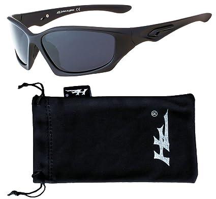VertXmasculinepolarisésdes lunettes desoleilSporten cours d'exécutionen plein air.–Cadre noir mat - Fuméedelentille 7iNHUdV5x